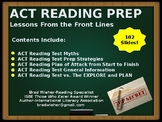 ACT Reading Test Prep: Lessons From the Front Lines. MUST READ! ABLE TO EDIT!