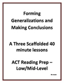 ACT Reading Test Prep - Making Generalizations and Drawing