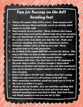 ACT Reading Tip Sheet
