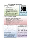 ACT Reading Tipsheet