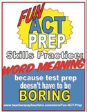 Fun ACT Reading Prep: Word Meaning/Context Clues Skill-by-