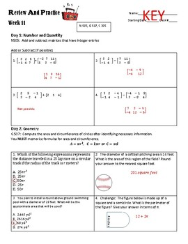 ACT Review and Practice #11