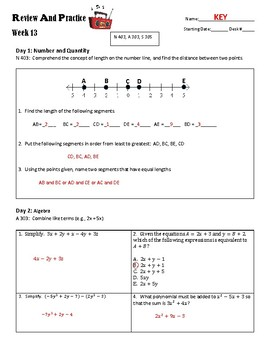 ACT Review and Practice #13