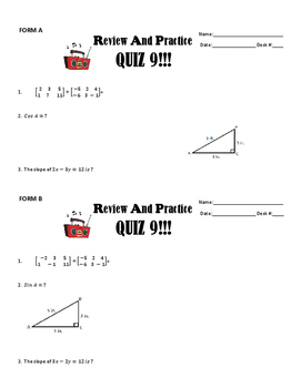 ACT Review and Practice #9