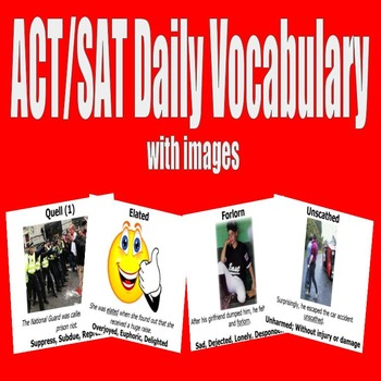 ACT / SAT Daily Vocabulary Bundle with Images - English 1
