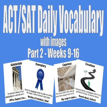 ACT / SAT Daily Vocabulary Bundle with Images - Part 2 (We