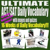 ACT / SAT Daily Vocabulary UltimateBundle w Images Quizzes