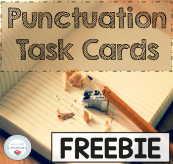 Punctuation Task Cards (FREE)