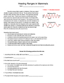 ACT Science Graphs Practice 7: Hearing Ranges