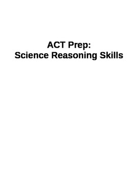 ACT Science Reasoning Test Prep