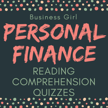 Personal Finance Reading Comprehension Quizzes with ACT-Style Questions