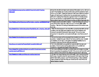 ACT Test Prep Resources