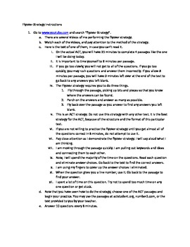 ACT Test Strategy for Great Student Success (Not Updated for 2015 Test)