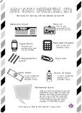 ACT Test Survival Kit - Black & White