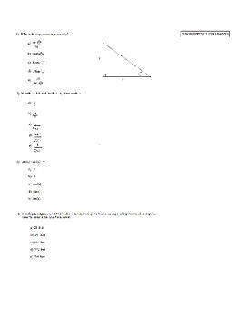 ACT Trigonometry Practice Questions