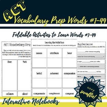 ACT Vocabulary Prep Volume #1