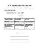 ACT Vocabulary Tic-Tac-Toe Project