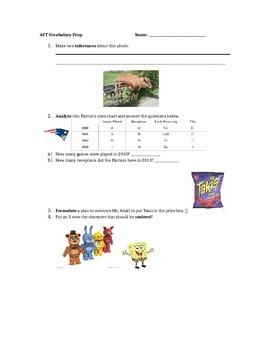 Testing Vocabulary Practice