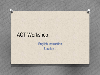 ACT Workshop #1