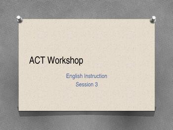 ACT Workshop #3