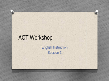 ACT Workshop #3