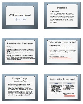 ACT Writing Prep Lessons (2017 Edition)