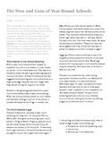 ACT reading practice: Year-round school passage