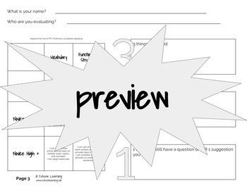 ACTFL Peer Evaluation Form