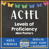 ACTFL Proficiency Levels Mini-Posters  *Moda Mariposa*