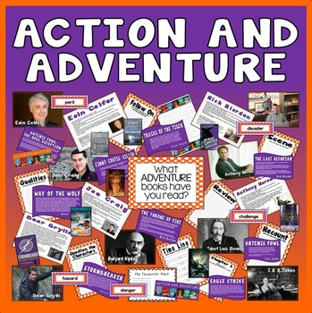 ACTION AND ADVENTURE TEACHING & DISPLAY RESOURCES ENGLISH READING KS2 AUTHORS