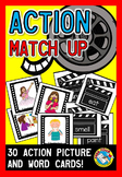 VERBS ACTIVITIES: VERBS MATCH UP GAME: ACTION VERBS CENTER