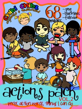 ACTIONS CLIPART PACK VOL.2 {Action Words, Verbs, Things I Can Do}