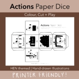ACTIONS   Paper Dice   Printable