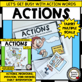 ACTIONS VERBS PRONOUNS Early Childhood Speech Therapy Auti