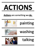 ACTIONS word wall