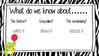 ACTIVATE PRIOR KNOWLEDGE - The Enormous Crocodile