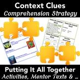 Context Clues: Strategies, Activities + Mentor Texts (Teacher Task Cards)