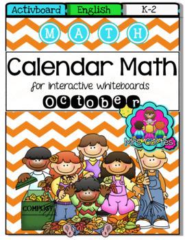 ACTIVBOARD Calendar Math- October FALL VERSION (English)