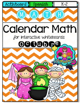 ACTIVBOARD Calendar Math- October HALLOWEEN VERSION (Spanish)