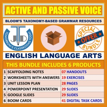 ACTIVE AND PASSIVE VOICE: TEACHING AND LEARNING RESOURCES