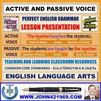 ACTIVE AND PASSIVE VOICE - TEACHING RESOURCES: LESSON PRESENTATION