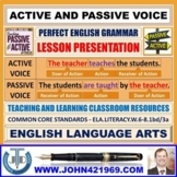 ACTIVE AND PASSIVE VOICE - TEACHING RESOURCES : LESSON PRESENTATION