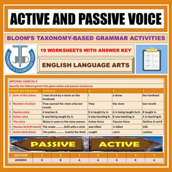 ACTIVE AND PASSIVE WORKSHEETS WITH ANSWERS