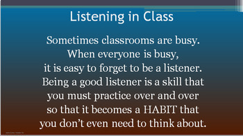 ACTIVE LISTENING Lesson Ready to Use No Prep PPT PBIS Character Ed Social Skills