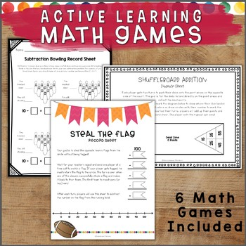 ACTIVE Learning Math Games and Sports for Kids Who Like to MOVE!