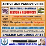 ACTIVE AND PASSIVE VOICE : LESSON PLAN AND RESOURCES