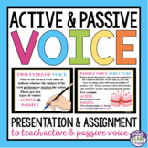 ACTIVE PASSIVE VOICE PRESENTATION, ASSIGNMENT, & POSTER