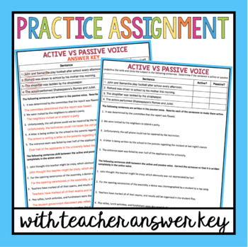 Active Passive Voice Presentation Assignment Poster By Presto Plans
