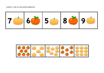 Math Activities (Part II) | ACTIVIDADES MATEMÁTICAS (CALABAZAS 2ª PARTE)