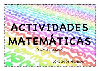 ACTIVIDADES MATEMÁTICAS. CONCEPTOS NAVIDAD